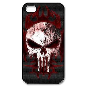 Custom Personalized The Punisher Skull Hard Plastic iPhone 4 4S Case