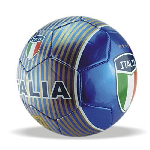Machine Stitch Soccer Ball with Italia Country Name Size: 5 (Blue)