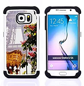 - Eifel tower spring fair France/ H??brido 3in1 Deluxe Impreso duro Soft Alto Impacto caja de la armadura Defender - SHIMIN CAO - For Samsung Galaxy S6 G9200