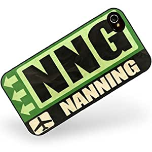 Rubber Case for iphone 4 4s Airportcode NNG Nanning - Neonblond