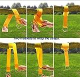 Tree Swing Straps, 2 Sets Hammock Hanging Kit Extra Long Wood Hanger Ropes Adjustable-Heavy duty Carabiner Swivel For Outdoor Tree Swing & Hammocks Strap,Tire Swing,Saucer Swing,Toddler swings