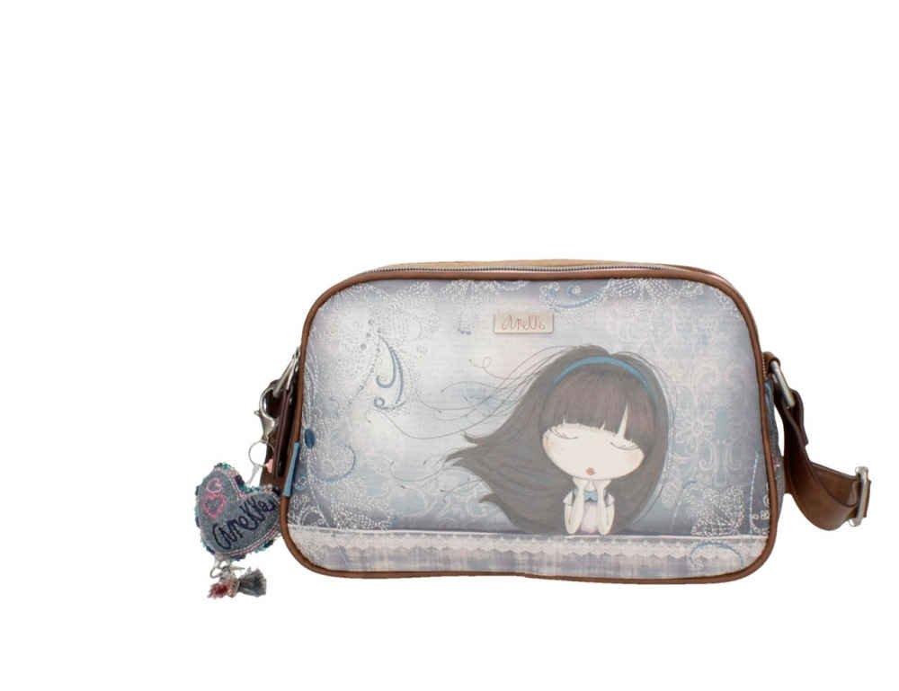Sany Bags SL Anekke Double Moon Shoulder Bag Bolso de Viaje, 26 cm, Marrón (Brown)