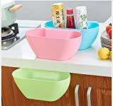 Ruon Deals™ Simple And Stylish Colorful Eco-Friendly Novelty Multi-purpose Home Kitchen Office Cupboard Drawer Door Cabinet Storage Box Fruit Storage Container Organizers Hanging Trash Bin Garbage Holder (1pc Random Color)