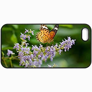Fashion Unique Design Protective Cellphone Back Cover Case For iPhone 5 5S Case Butterfly Black