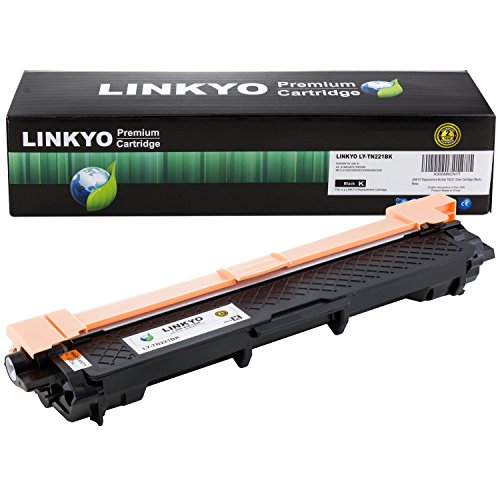 (LINKYO Compatible Toner Cartridge Replacement for Brother TN221BK TN-221BK (Black, High Yield))