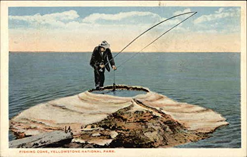 Fishing Cone Yellowstone National Park, Montana Original Vintage Postcard -