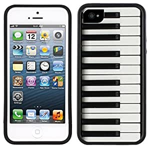 Piano Keys Handmade iPhone 5 5S Black Case