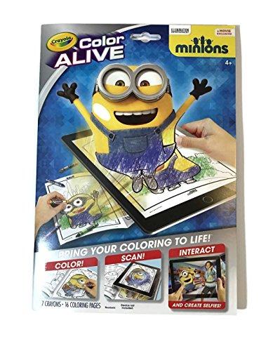 Crayola 95-1053 Color Alive Minions Coloring Pages, Black ()