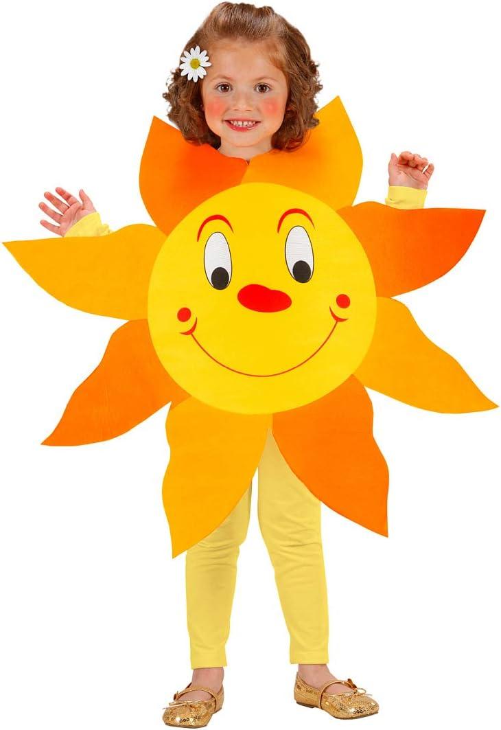 Original Disfraz de Girasol para niños / Amarillo-Naranja 113cm, 3 ...