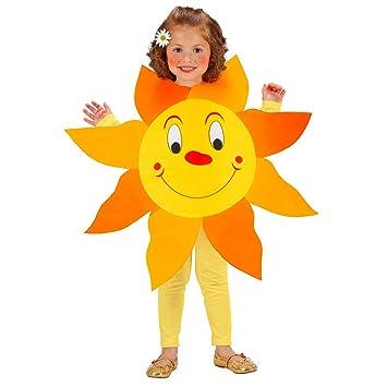 NET TOYS Dulce Disfraz Sol para niña y niño - Amarillo-Naranja ...