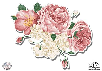 b226db6b61481 GT Graphics Flower Bouquet Vintage Style Pretty Roses Floral - Vinyl  Sticker Waterproof Decal