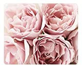 Mouse Pad Pink Roses 36230 Oblong Shaped Mouse Mat Design Natural Eco Rubber Durable Computer Desk Stationery Accessories Mouse Pads For Gift