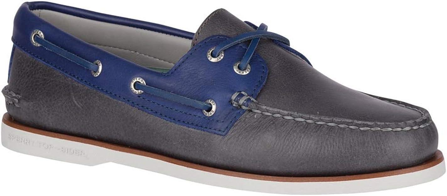 SPERRY TOP SIDER A//O Black Gold Metallic Leather Boat Shoe Sz 8.5 EU 39.5 NIB 95