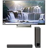 Sony XBR-55X930E 55 4K Ultra HD LED Smart TV and HT-MT300 2.1 Channel Compact Soundbar with Wireless Subwoofer (Charcoal Black)