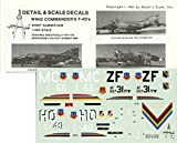 Detail & Scale Decals 1:48 Wing Commander's F-4D's for Monogram Kit #0248