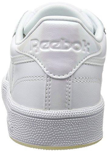 Elfenbein Reebok Ice White Club Gymnastikschuhe C 85 Damen Pearl Lthr white 1qpCAw