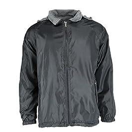 Men's Reversible Fleece and Windbreaker Rain Jacket