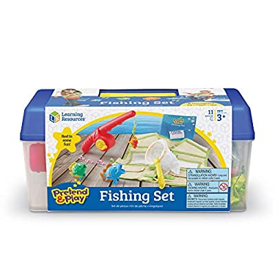Learning Resources Pretend & Play Fishing Set, Fishing Pole & Tackle Box Toy, 11Piece, Ages 3+: Toys & Games