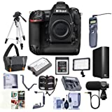Nikon D5 FX-Format DSLR Camera Body (XQD Version) - Bundle Camera Bag, Spare Battery, 32GB XQD Card, 4TB External Hard Drive, Tripod, Remote Shutter Trigger, Video Light, Software Pack More