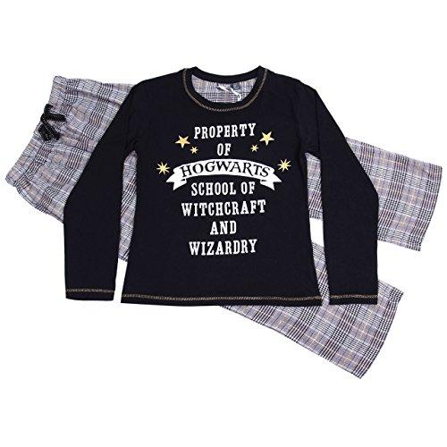 Hogwarts HARRY POTTER, Damen Pyjama, Nachtwäsche, 2 Tlg. Schlafanzug-Set, long