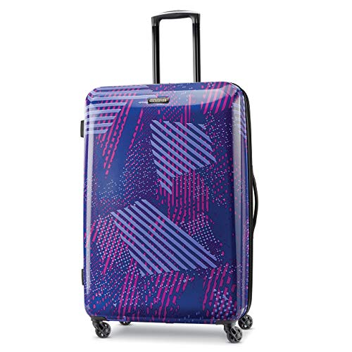 American Tourister Checked-Large, Purple Storm