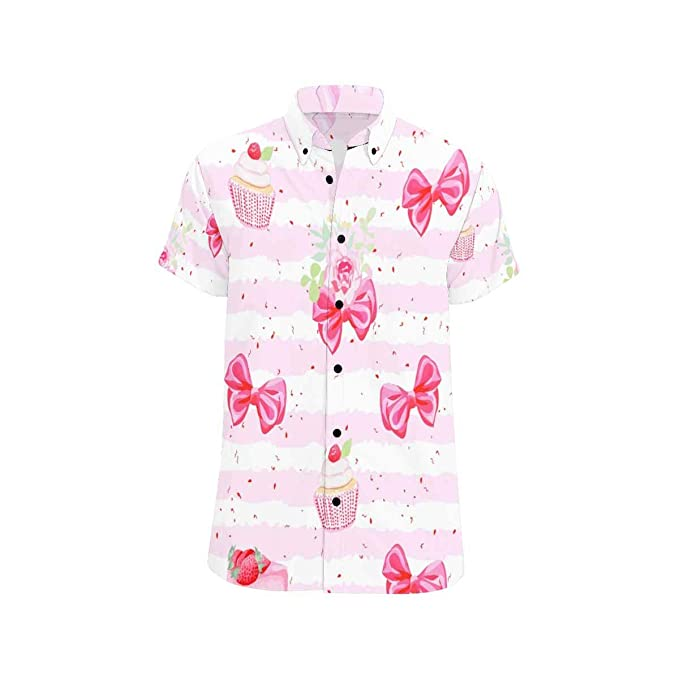 Easonp Boys Short Sleeve Cute Top Cotton Printed Shirts