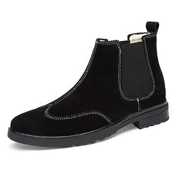 b0a4aa2c60c Amazon.com : RUI Men's Martin Boots, Fall/Winter Suede Lazy Shoes ...
