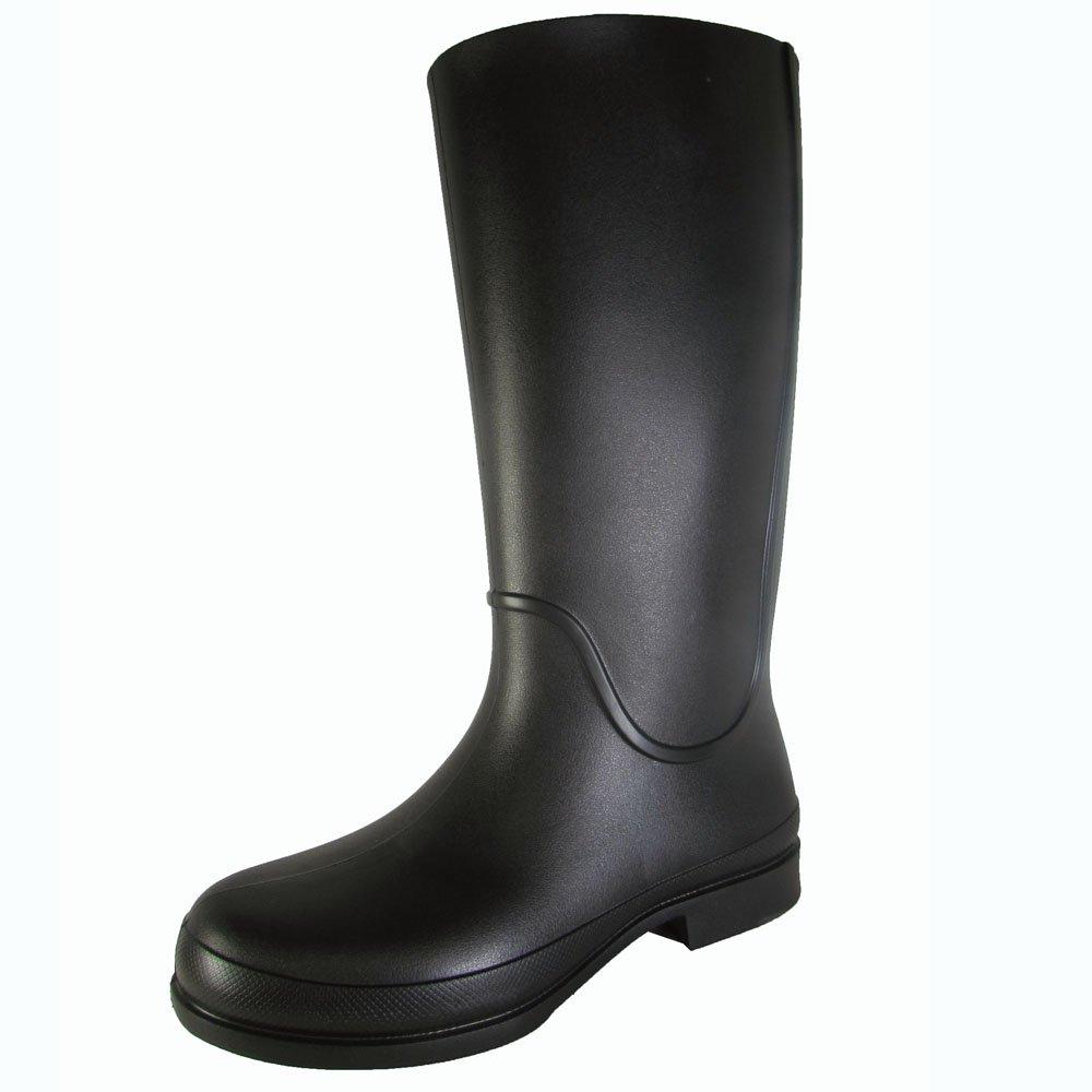 Crocs Womens Wellie Waterproof Rain Boot Shoes, Black/Mulberry, US 10