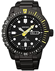 Seiko Prospex Automatic Black Dial Black Ion-plated Mens Watch SRP633