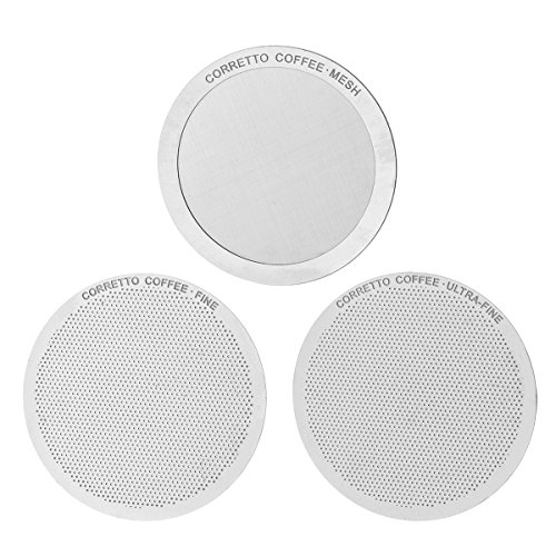 3-pro-aeropress-stainless-steel-filters-by-corretto-coffee-fine-ultra-fine-mesh-brewing-guide-reusab