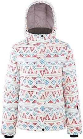 冬の防水暖かい冬の裏地のジャケット暖かいレディースジャケットスキー服Snowproof快適なレディーススキージャケット - 多機能 アノラック (Color : Multi-colored, Size : XL)
