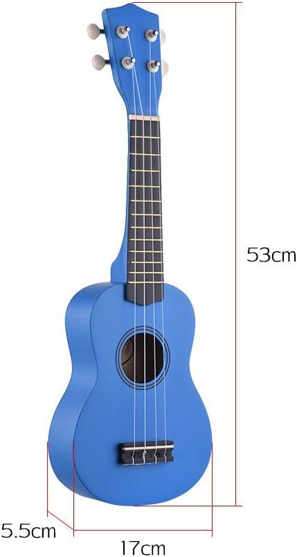Muslady 21 pouces Kit de Ukul/él/é Soprano Acoustique Color/é Tilleul avec sac de transport Uke Strap Strings Picks Tuner