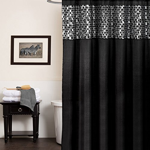 (Popular Bath Mosaic Stone Shower Curtain)