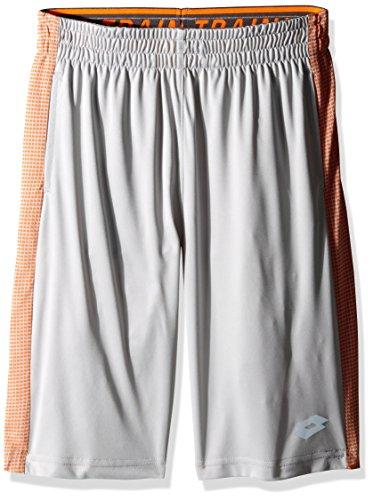 Lotto Boys Slim Size Jersey Soccer Short, Light Grey, X-Large