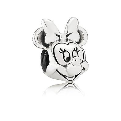 89d9ab9fd Amazon.com: Pandora Disney Minnie Portrait Silver Charm 791587: Jewelry