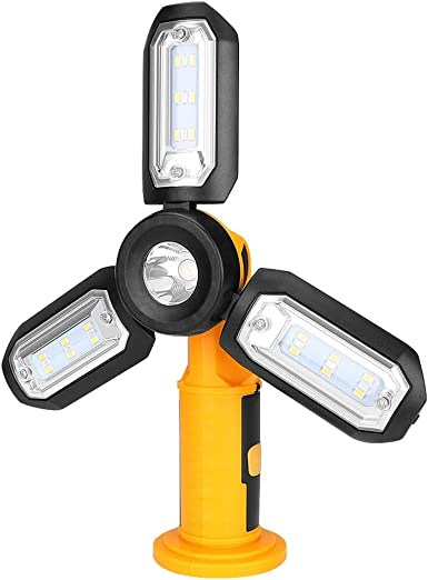 Portable 4 Modes Magnetic Led USB Clip Light Inspection Lamp Outdoor Sports IR