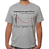 Men's The Dunning Kruger Effect Crew Neck Tee Grey