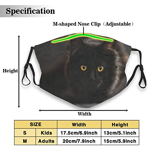 Dust Mask Cat Night Anti-dust Mouth Masks Respirator Reusable Cotton Breathable Safety Dust-proof Half Face Mask for Kids Boys Girls Running Cycling Travel Outdoor