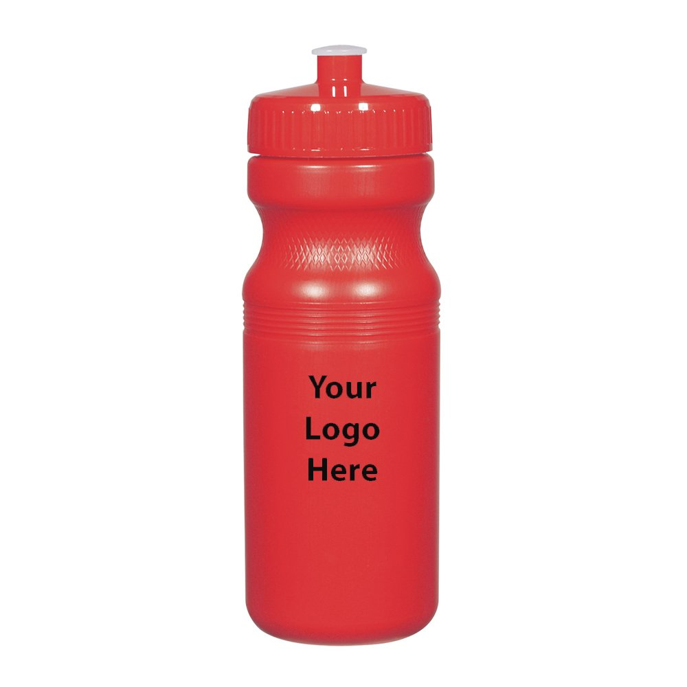 Solid Color 24 Oz. Fitness bottles - 100 Quantity - $1.75 Each - PROMOTIONAL PRODUCT / BULK / BRANDED with YOUR LOGO / CUSTOMIZED