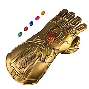 Yacn Infinity Gauntlet Thanos Glove LED with Separable Magnetic Infinity Stones (Adult)