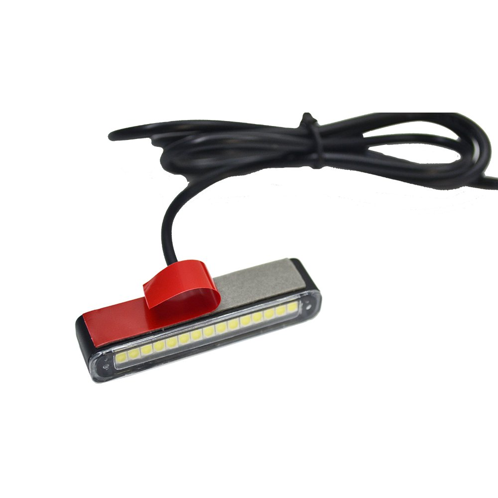 1x Motorcycle Waterproof Led License Plate Light with 15 pc red//amber led,Brake Light