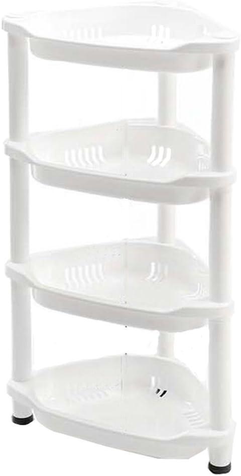 Macallen Estantería de Almacenamiento para Esquina de Baño o Cocina (Resistente a la Corrosión, 4 Estantes)