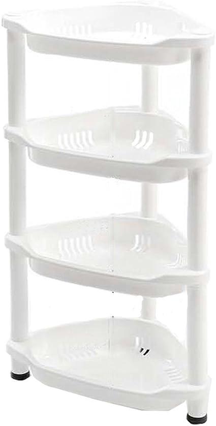 Macallen Estante de Cocina Estantería Jabones Ducha Esquina Baño Plástico