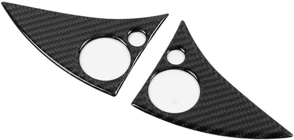 Suuonee Auto Lenkrad Aufkleber 2 Stück Carbon Auto Lenkrad Knopfleiste Aufkleber Für W204 C Klasse 07 10 Auto