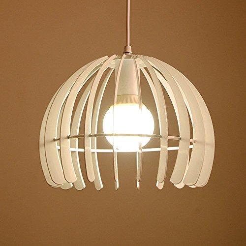 (American Personalized Hemisphere Iron Cage Pendant Lamp Modern Creative Cafe Restaurant Living Room Kitchen Black/White Chandelier Ceiling Light Diameter: 28CM (Color : White))