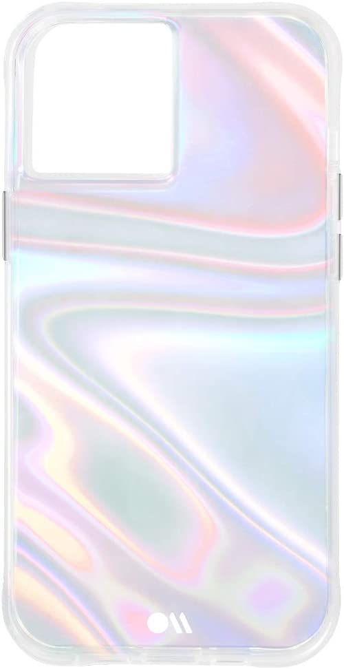 Case-Mate - SOAP Bubble - Case for iPhone 12 Pro Max (5G) - 10 ft Drop Protection - 6.7 Inch- Iridescent Swirl