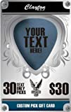 Clayton Custom Pick Gift Card, 30 Text Only Picks
