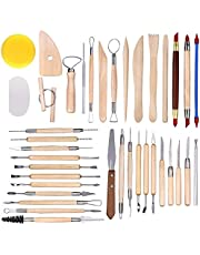 38 Pieces Wooden Pottery Sculpting Clay Cleaning Tool Set