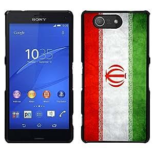 LECELL--Funda protectora / Cubierta / Piel For Sony Xperia Z3 Compact -- Nacional bandera de la nación País Irán --