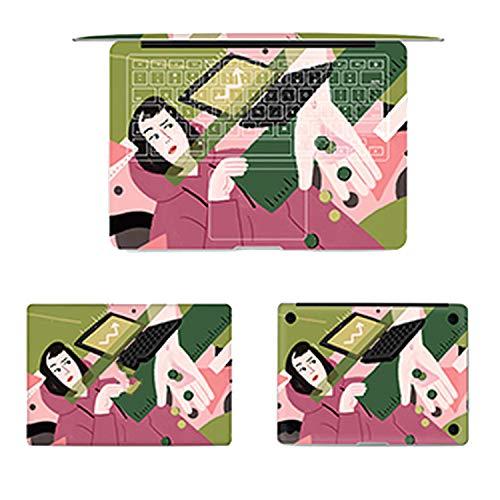 4pcs/Set Laptop Full Sticker Top Bottom Keyboard Vinyl Decal Creativity Skin for Macbook Air Retina Pro 13 15 & Film,Pro 15 -A1286,F56